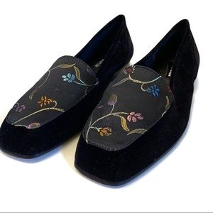 Enzo Angiolini Floral Embroidered Loafers
